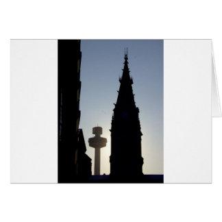 Silhouette Scene, Liverpool UK Card