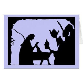 Silhouette Sensations, Manger scene 5 Greeting Card