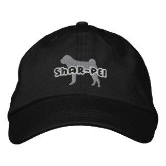 Silhouette Shar Pei Embroidered Baseball Cap