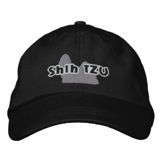 Silhouette Shih Tzu Embroidered Baseball Caps