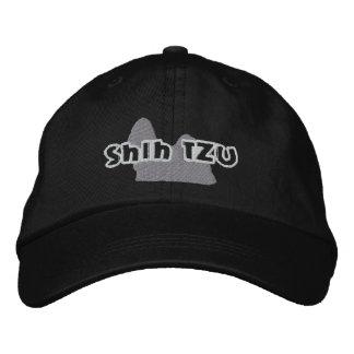 Silhouette Shih Tzu Embroidered Baseball Caps