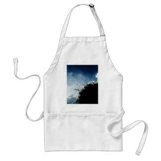 Silhouette sky standard apron