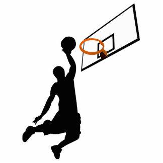 Silhouette Slam Dunk Basketball Player Standing Photo Sculpture