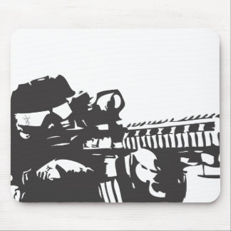 Silhouette Solider Mouse Pads