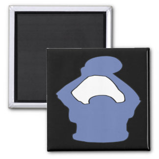 Silhouette Square Magnet