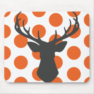 Silhouette Stag Head Mouse Pads