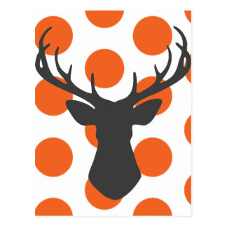 Silhouette Stag Head Postcard