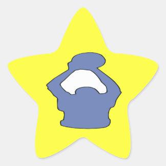 Silhouette Star Sticker