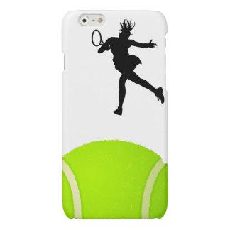 Silhouette Tennis Player iPhone 6 Plus Case