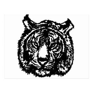 Silhouette Tiger Postcard
