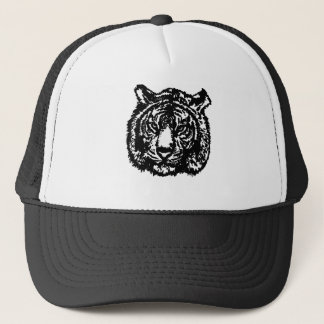 Silhouette Tiger Trucker Hat