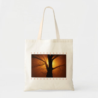 Silhouette Tree in Sunset Tote Bag
