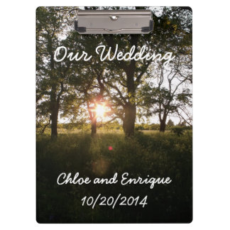 Silhouette Trees And Sunlight Personalized Clipboard