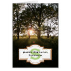 Silhouette Trees Happy Birthday Monogram Card