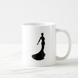 Silhouette Wedding Dress Bride Coffee Mug