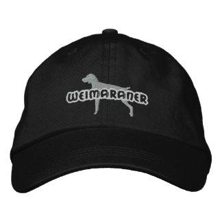 Silhouette Weimaraner Embroidered Hats