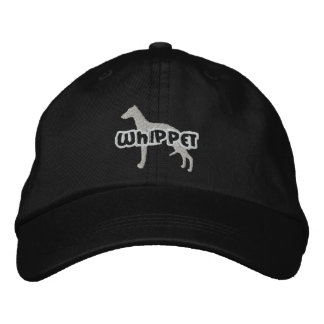 Silhouette Whippet Embroidered Hat