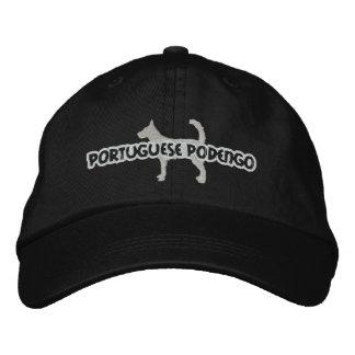 Silhouette Wire Portuguese Podengo Embroidered Hat