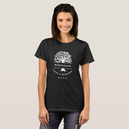 Silhouette Womens Family Tree Reunion Souvenir T-Shirt