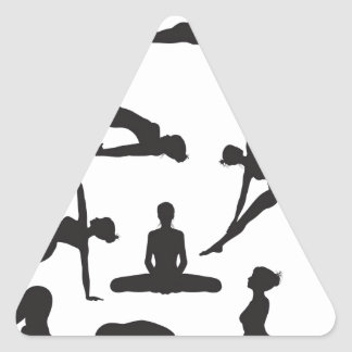 Silhouette Yoga poses Triangle Stickers