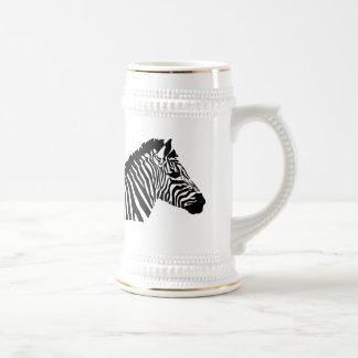 Silhouette Zebra Beer Stein
