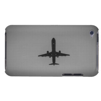 Silhouetted aircraft landing iPod Case-Mate cases