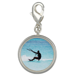 Silhouetted Kitesurfer Photo Charms
