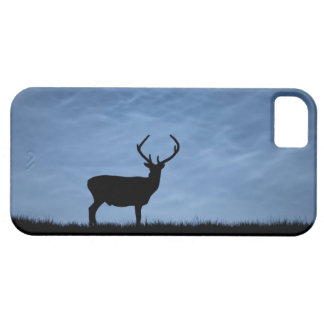 Silhouetted Red Deer Stag at Night Barely There iPhone 5 Case