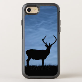 Silhouetted Red Deer Stag at Night OtterBox Symmetry iPhone 8/7 Case
