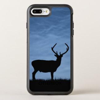 Silhouetted Red Deer Stag at Night OtterBox Symmetry iPhone 8 Plus/7 Plus Case