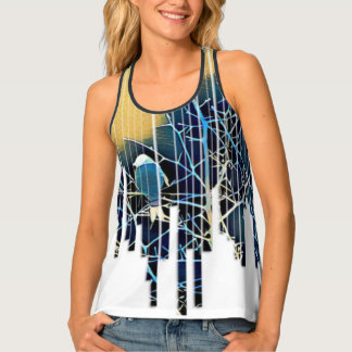 Silhouetted Wetland Bird Tank Top
