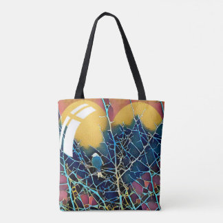 Silhouetted Wetland Bird Tote Bag