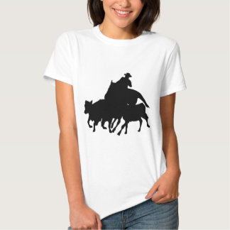 Silhouettes - Horse Racing - T-Breds Shirts