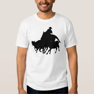 Silhouettes - Horses - Team Penning T Shirt