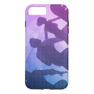 Silhouettes of Business People with Teamwork iPhone 7 Plus Case