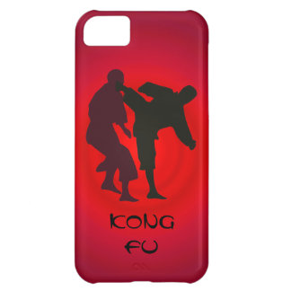 Silhouettes of Martial Artists During a Fight iPhone 5C Case