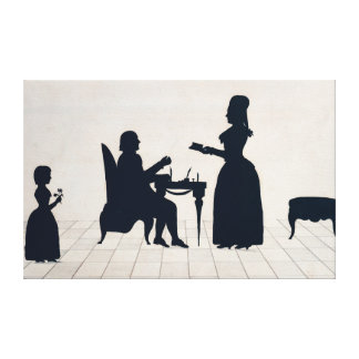 Silhouettes of Monsieur and Madame Roland Canvas Print