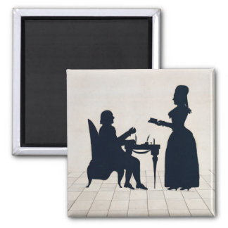 Silhouettes of Monsieur and Madame Roland Magnet