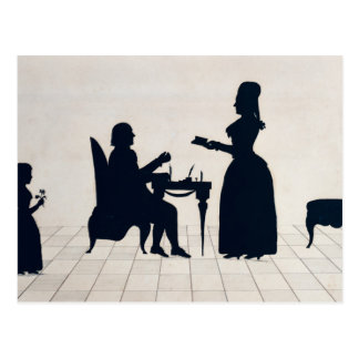 Silhouettes of Monsieur and Madame Roland Postcard
