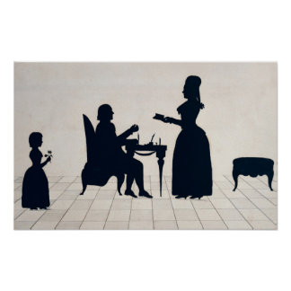 Silhouettes of Monsieur and Madame Roland Poster