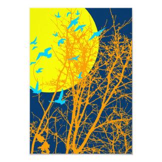silhouscreen birds 9 cm x 13 cm invitation card