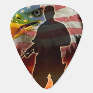 Silhoutte of a Soldier Plectrum