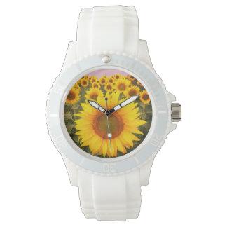 Silicon Fashion Sunflower Watch