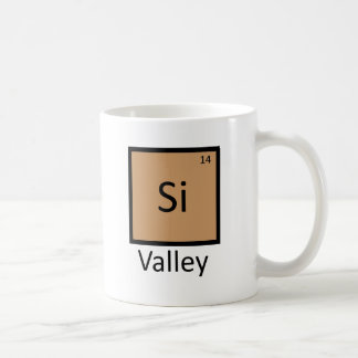 Silicon Valley Chemistry Periodic Table Pun Basic White Mug