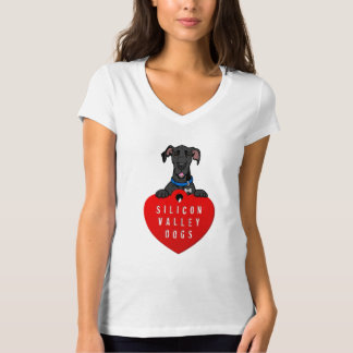 Silicon Valley Dogs Women's V-Neck Tee