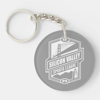 Silicon Valley Sports League Double-Sided Round Acrylic Key Ring