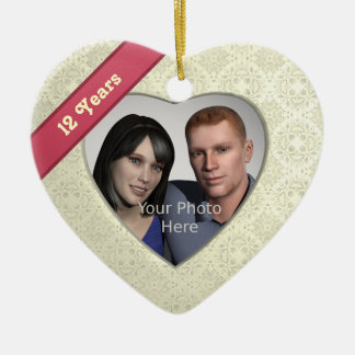 Silk Effect 12th Anniversary: Add a Photo Christmas Ornament
