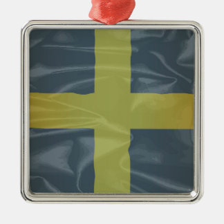 Silk Flag of Saint David Of Wales Silver-Colored Square Decoration