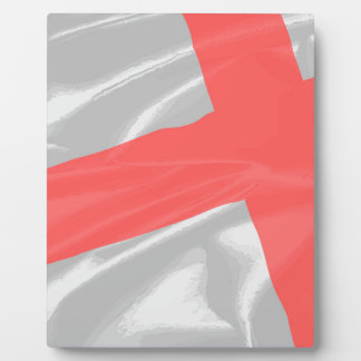 Silk Flag of Saint George Plaque