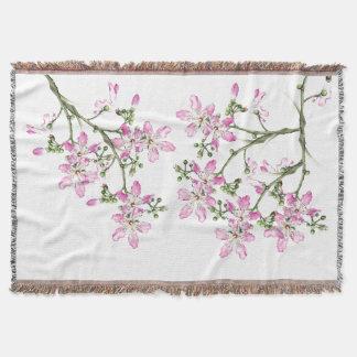 Silk Floss Tree Flower Blossoms Art Throw Blanket